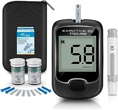 Medidor de glucosa en sangre, kit de prueba de glucosa en sangre con codefree tiras de