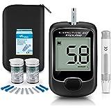 Medidor de glucosa en sangre, kit de prueba de glucosa en sangre con codefree tiras de prueba de glucosa en sangre x 50…
