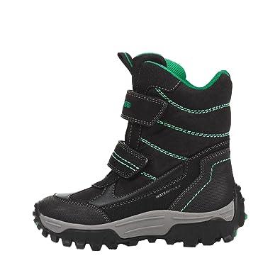 Geox Himalaya Boy J643AA 0FUCE C0071 wasserdichter Burschen Winterstiefel,  Groesse 29, schwarz/grün