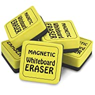 "The Pencil Grip TPG355 Magnetic Whiteboard Eraser, 2"" x 2"", Yellow, Pack of 12"