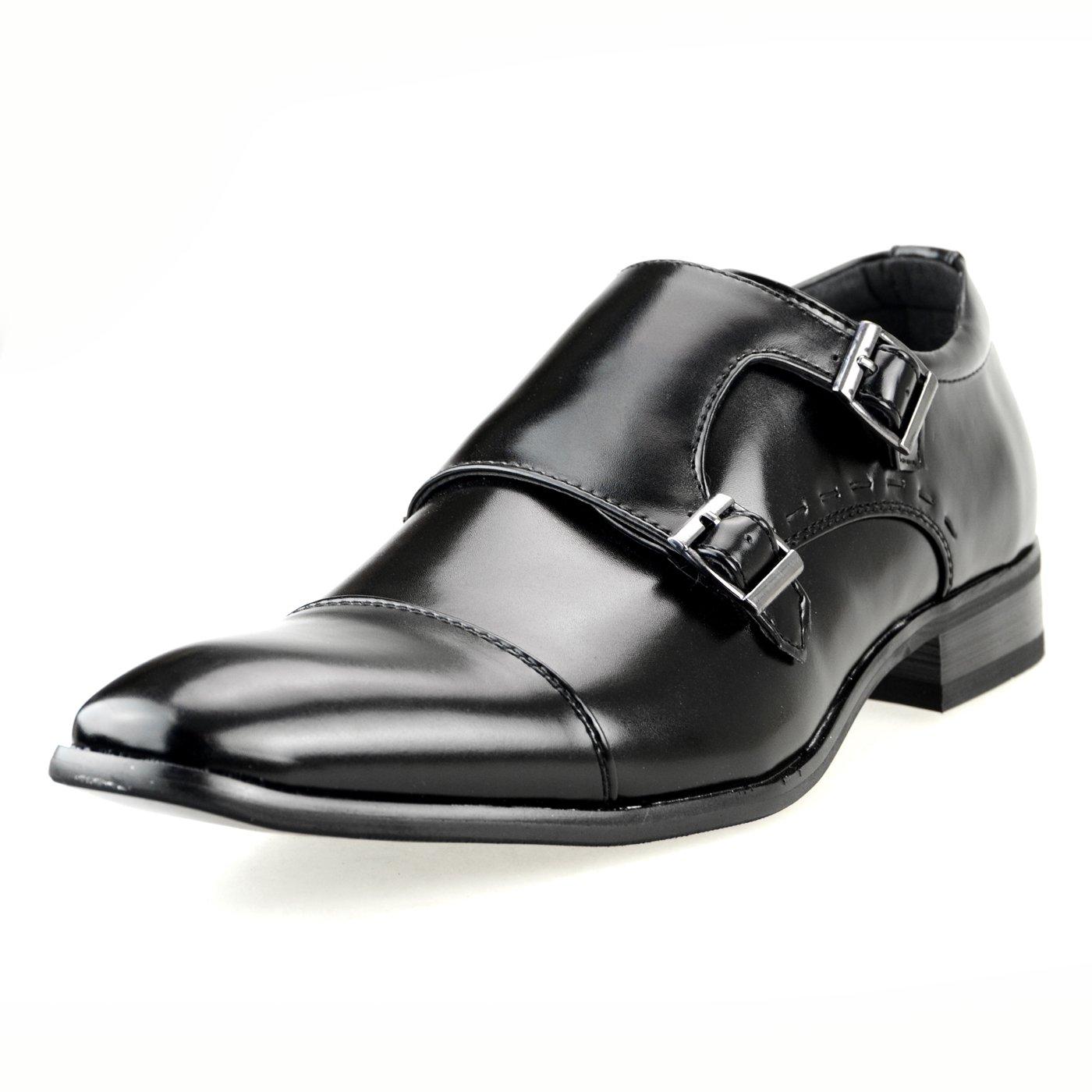 MM/ONE Mens Shoes Slipon Dress Shoes Oxford Laceup Shoes Gift Shoes Black 42 EU (US Men's 9-9.5 M)