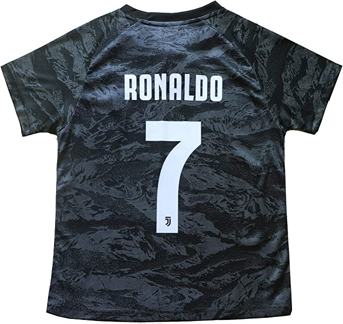 FCM 2019//2020 New #7 Cristiano Ronaldo Kids Third Soccer Jersey /& Shorts Youth Sizes
