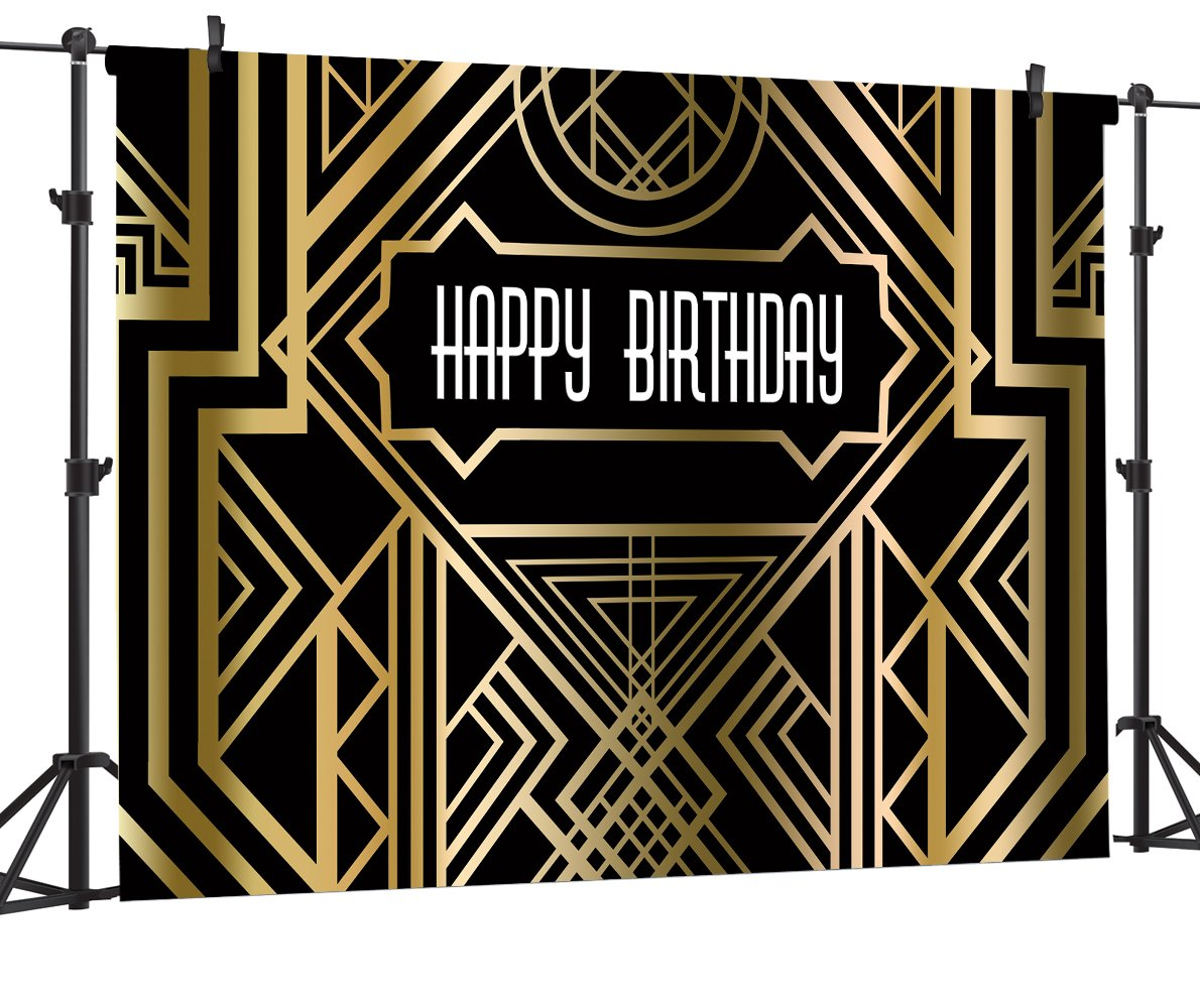 OUYIDA 7X5Ft Birthday Party Theme CP Pictorial Cloth Photography Background Computer-Printed Vinyl Backdrop BSK05