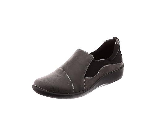 Clarks - Zapatos de Cordones de Lona para Mujer Gris Gris, Color Gris, Talla