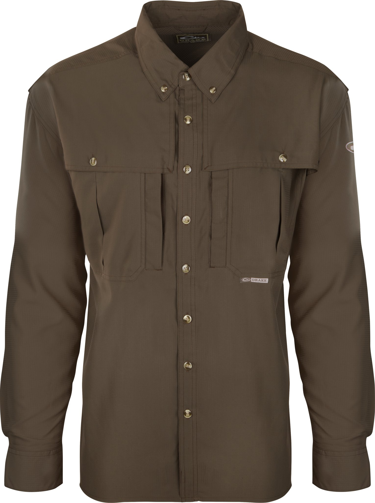 Drake Flyweight Wingshooter's Shirt L/S (Olive, Large) by Drake