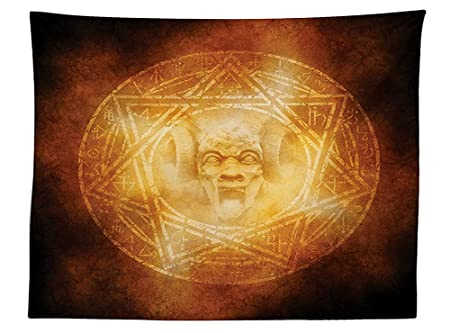 Vipsung Horror House Decor Tablecloth Demon Trap Symbol Logo