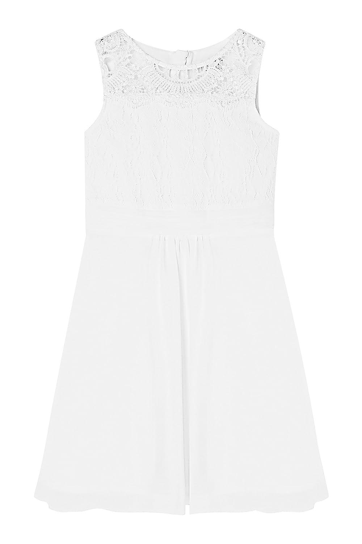 Amazon.com: LIPSY Girl Violet Lace Sleeveless Crew Neckline Prom Dress: Clothing