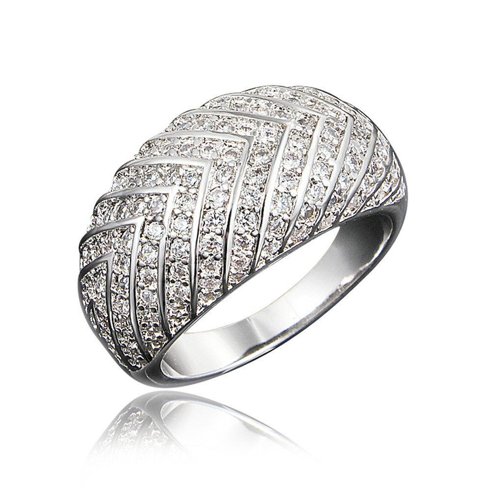 Fashion Gold Plated Natural Clear Stone Setiing Brand Ring Gifts Jewelry