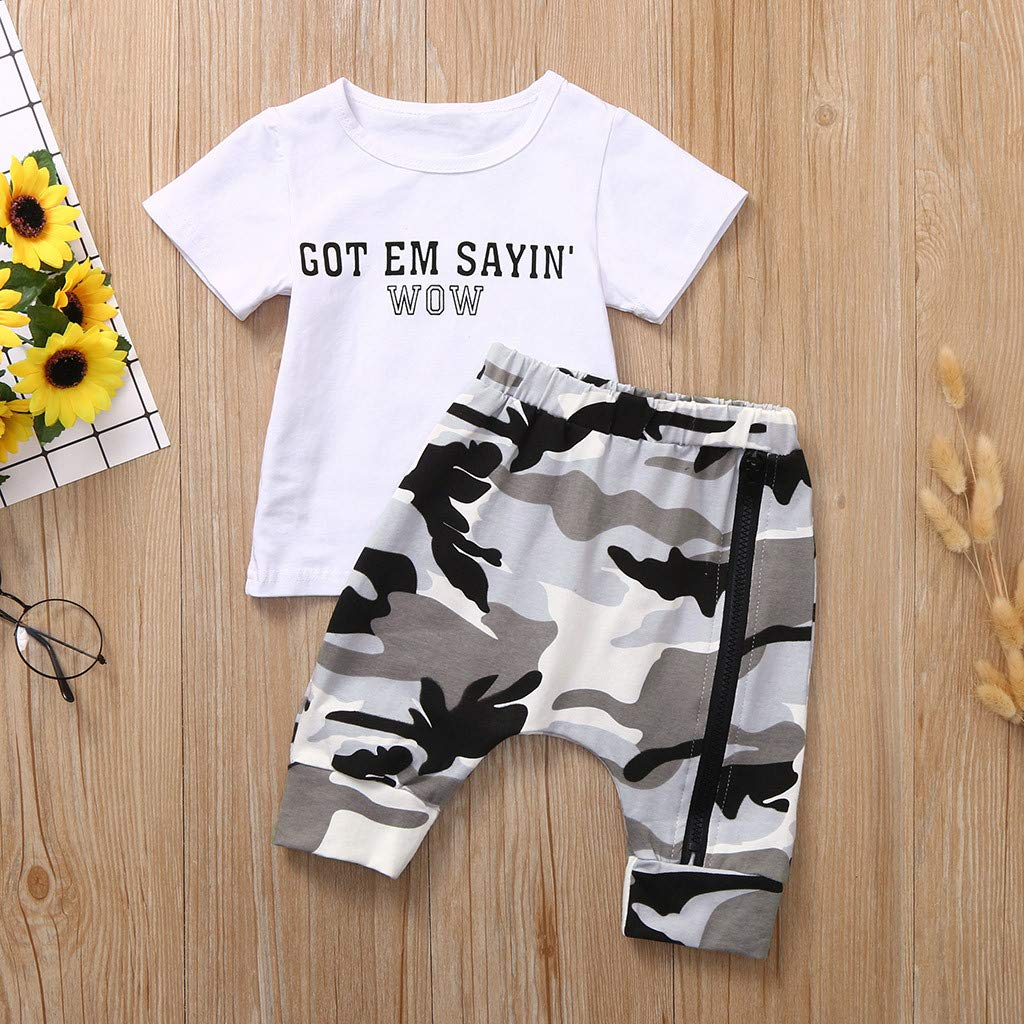 2Pcs Toddler Kids Baby Boy Short Sleeve Striped 100/% Organic Cotton Top Shirt Short Pants Clothes Outfit Set