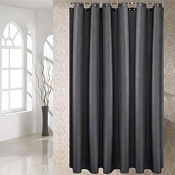 fanjow schimmelresistent stoff duschvorhang wasserabweisend badezimmer dusche vorhang farbe polyester bad vorhang mit 12 haken - Stoff Vorhang Dusche