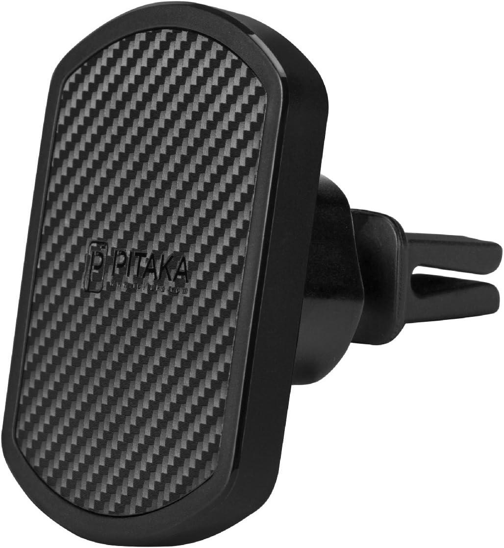 - Soporte para tel/éfono Celular de Larga duraci/ón para respiraderos pitaka Soporte Magn/ético MagMount con rotaci/ón de 360 Grados