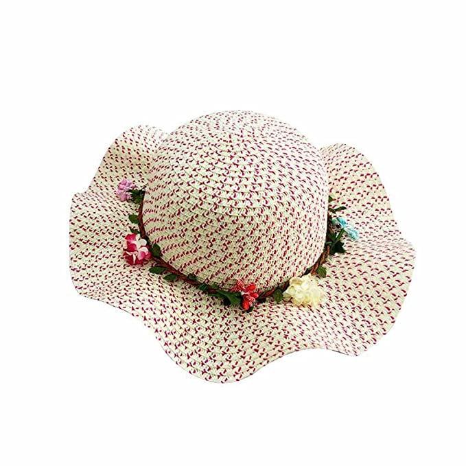 Tinksky Sombreros de sol para niñas gran sombrero para niños grande ...