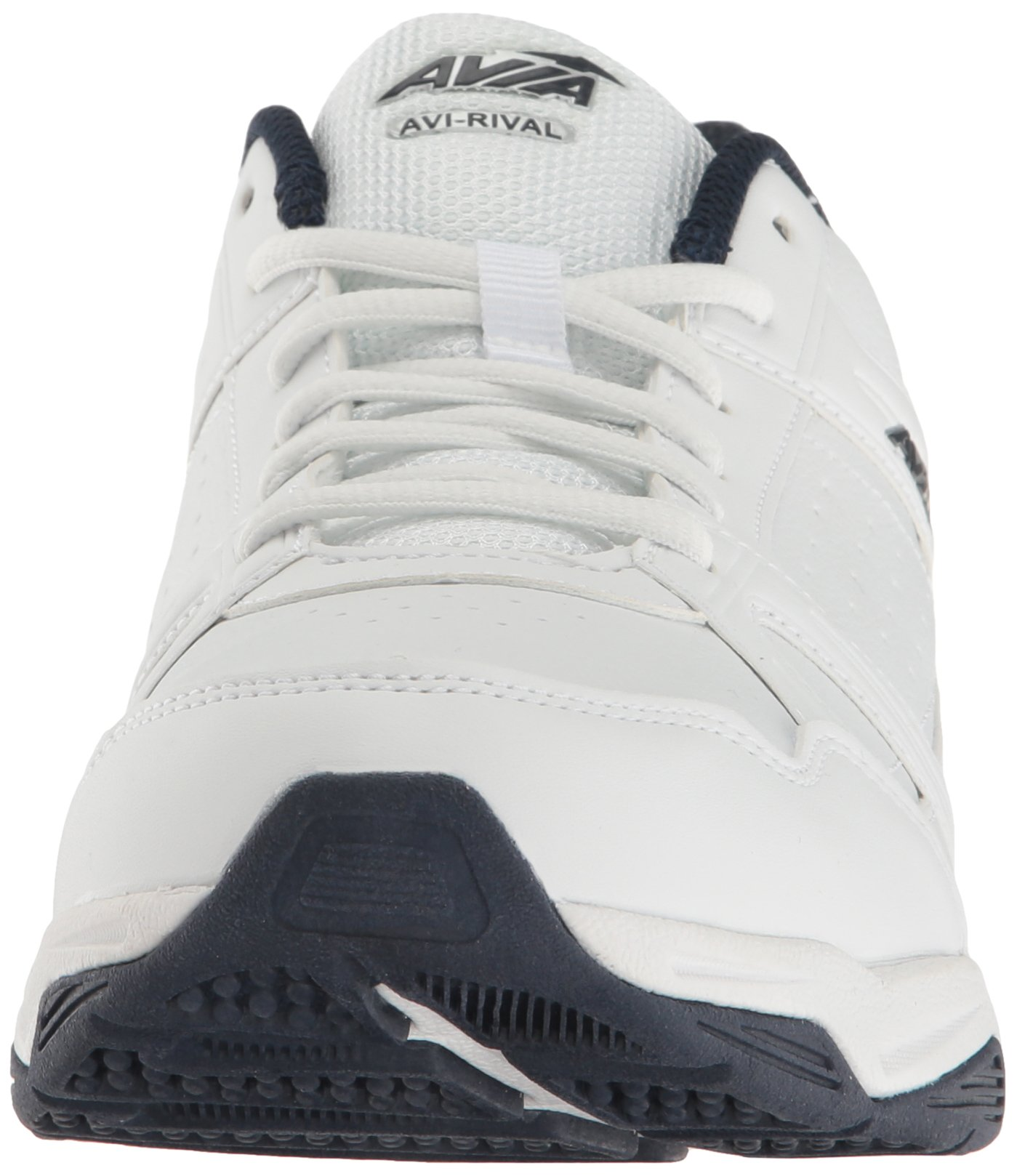 6dfd066d Avia Men's AVI-Rival Walking Shoe, White/True-Navy/Chrome Silver, 12 ...