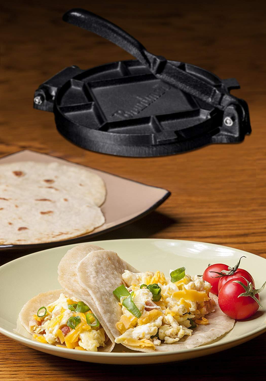Pre-Seasoned 7'' Cast Iron Tortilla Press, quesadilla maker by Bruntmor (Image #4)