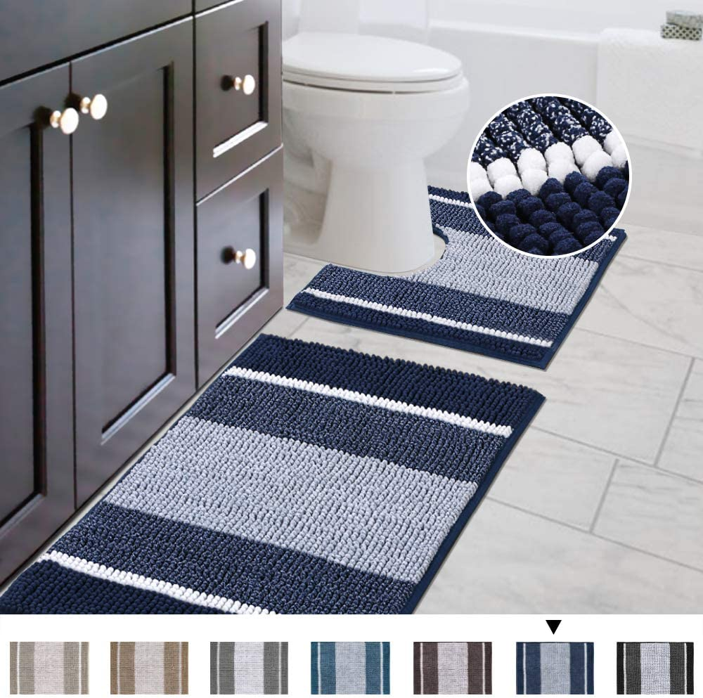 Heine Home Bath Bathroom Rug With Ruffle Applique Microfibre CA 45x50 cm