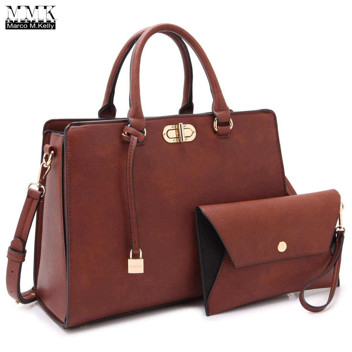 MMK collection Fashion Handbag with coin purse(XL-11) Classic Women Purse Handbag for Women` Signature fashion Designer Purse ~ Perfect Women Satchel Purse (XL-23-7581-Brown)
