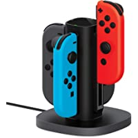 TalkWorks Nintendo Switch Joy Con Charging Dock (Charges up to 4 Joy-Con Controllers) - Controllers NOT Included