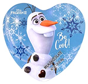 Disney Frozen 2 Valentines Day Heart Tin with Milk Chocolate Candy, 3.38 Ounce