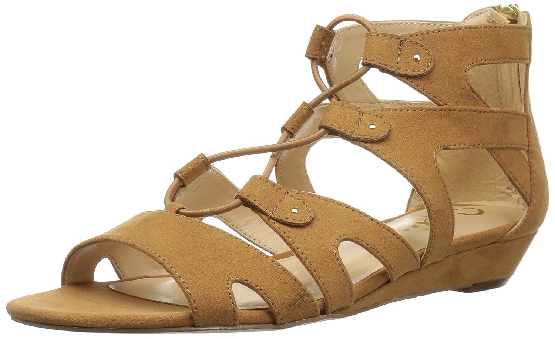 Callisto Women's Lexx Flat Sandal B075VHVL23 9.5 B(M) US Tan Suede