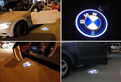 pesp® 2 x LED Coche Inalámbrico Puerta Bienvenida Luz 3d láser ...