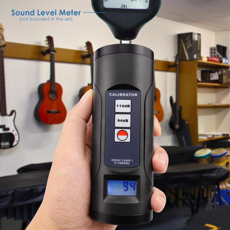 Sonom/ètre Num/érique Calibrateur 94db Et 114db Pour 1//2et 1 Pouces De Microphone D/écibel Outil D/étalonnage