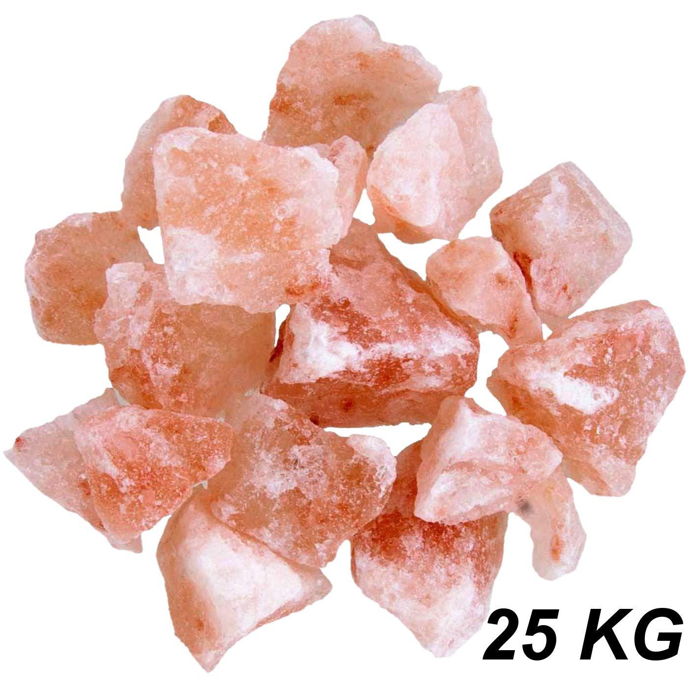 Salzsole Kristallsalz Brocken 1-25 KG gemischt 3-12 cm Salzstein Sauna Saunaaufgü sse Salz Sole aus Khewra sü dlich des Himalaya (25 KG) RMY International RMY-206