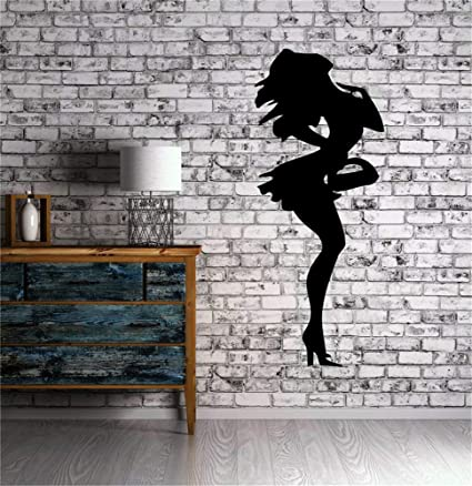 pegatinas de pared mariposas Mujer sexy silueta monedero ...
