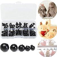 OKIl 100 piezas 6-12 mm de ojos Negro plástico de seguridad para muñecas Títeres Crafts animales de peluche de juguete del arte de DIY