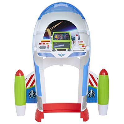 Toy Story B07GXLZQL9 Disney 4 Buzz Lightyear Star Command Center with Lights & Sounds! 3 Ways to Play, Flight, Desk Or Launch Modes! Encourage Imagination Play for Any Fan!: Toys & Games