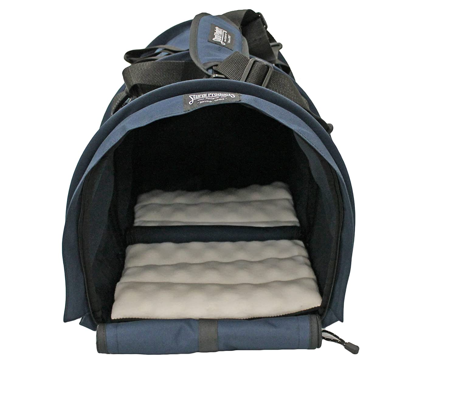 Navy Sturdi Products SturdiBag Double Sided Divided Pet Carrier, X-Large, Navy