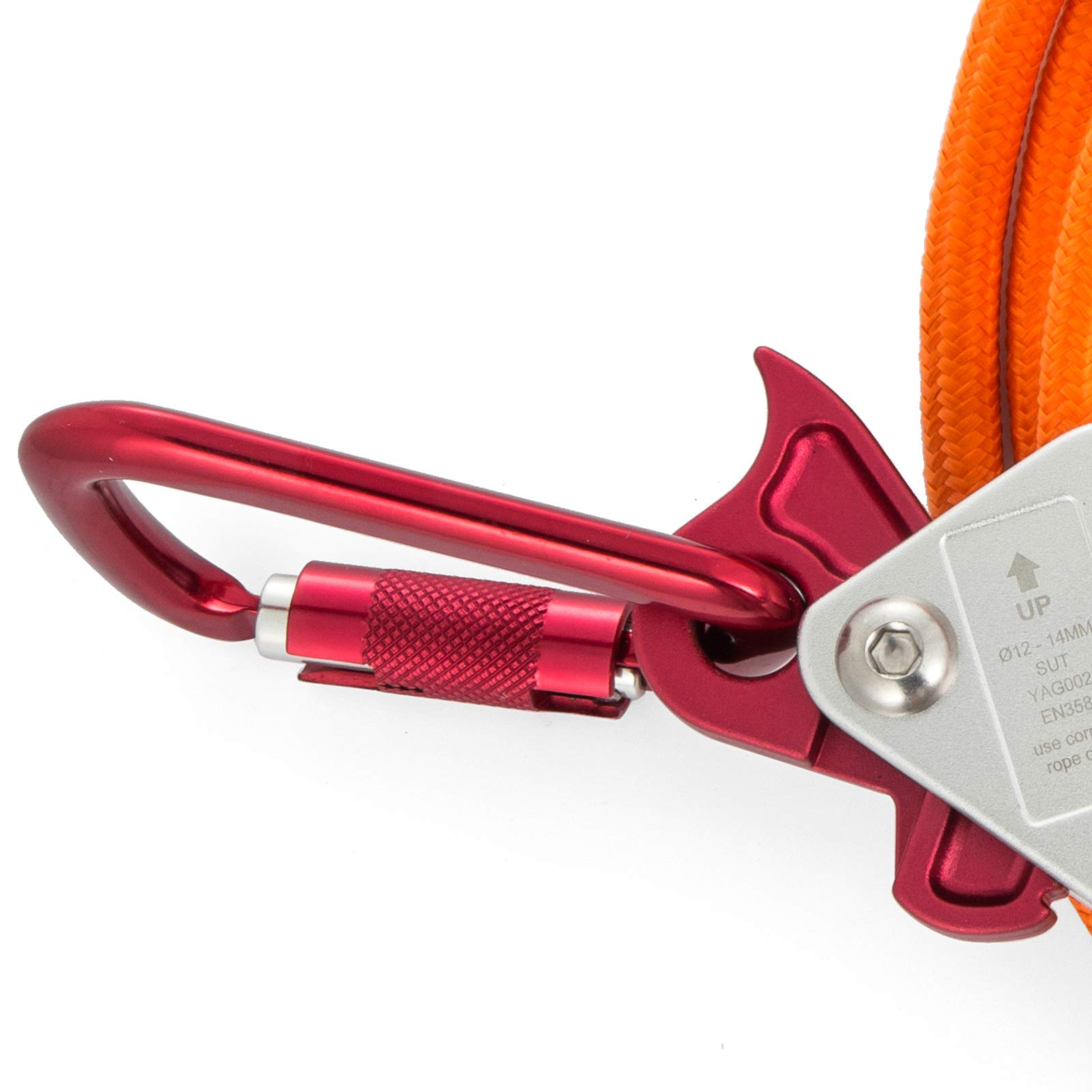 Happybuy Steel Wire Core Flip Line Kit 1/2'' X 8' Wire Core Flipline with Triple Lock Carabiner and Steel Swivel Snap Wire Core Flipline System for Arborists Climbers Tree Climbers (1/2'' X 8') by Happybuy (Image #7)