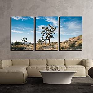 """wall26 - 3 Piece Canvas Wall Art - Beautiful Desert Landscape - Modern Home Art Stretched and Framed Ready to Hang - 24""""x36""""x3 Panels"""