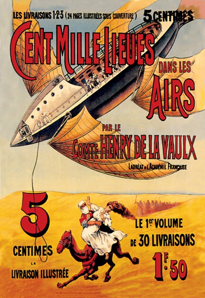Buyenlarge Cent Mille Lieues dans les Airs Wall Decal
