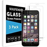 [3 PACK] Apple iPhone 6S Plus / iPhone 6 Plus [Tempered Glass] Screen Protector, MAXFEND [Anti-Scratch] [Anti-Fingerprint] [Bubble Free] with Lifetime Replacement-Warranty