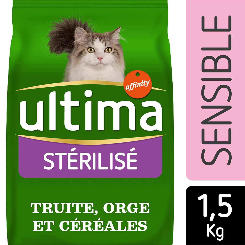 Ultima Gatos stérilisés sensibles Alimentos formulé 1,5 kg ...
