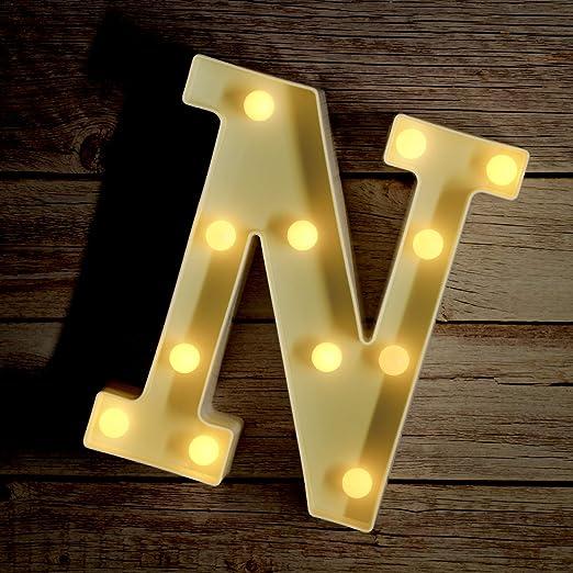 Amazon.com: Luz de posición con alfabeto, letrero de cartel ...