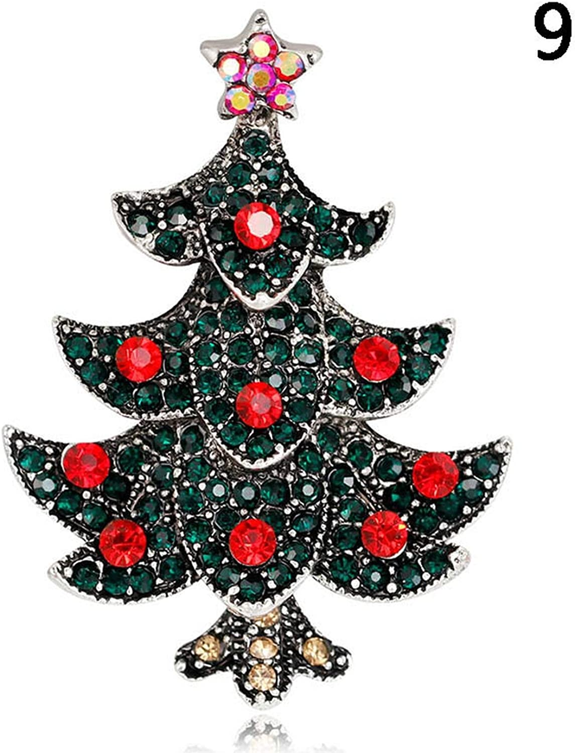 Encounter/_meet pins Brooches Christmas Jewelry Xmas Tree Deer Snowman Brooch Party Brooch Pin,Style 14