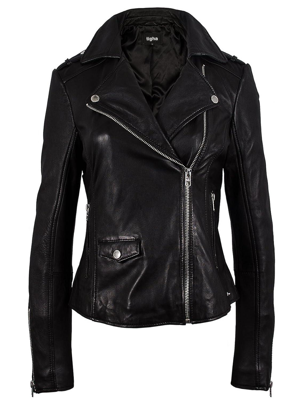 Lederjacke damen schwarz vintage