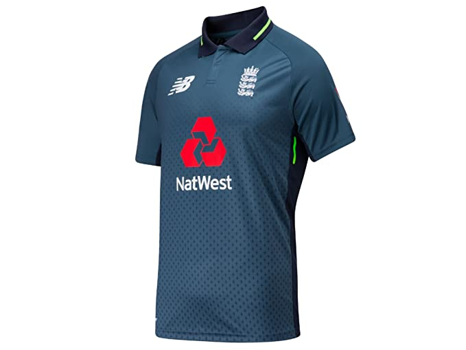 New Balance ECB Replica ODI Short Sleeve MenÔÇÖs Cricket Polo Shirt ... 4e8c49756717