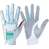 PGM Women's Golf Glove One Pair,Anti-Slip and Breathable,Bionic Gloves(Double color)