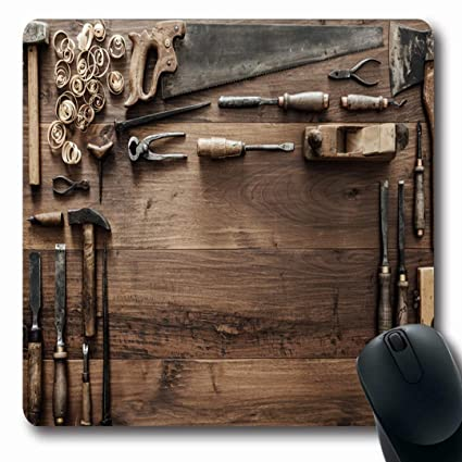Amazon Com Mousepads Gouge Carpenter Vintage Woodworking
