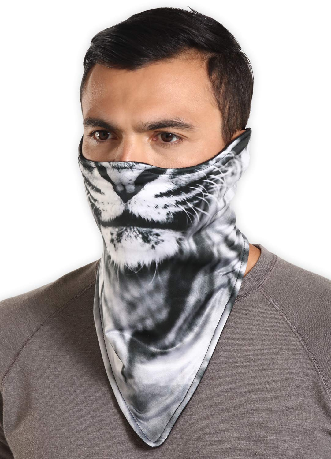 Tough Headwear Neoprene Ski Mask - Tactical Winter Face Mask - Perfect for Skiing, Snowboarding & Motorcycling (Lion)
