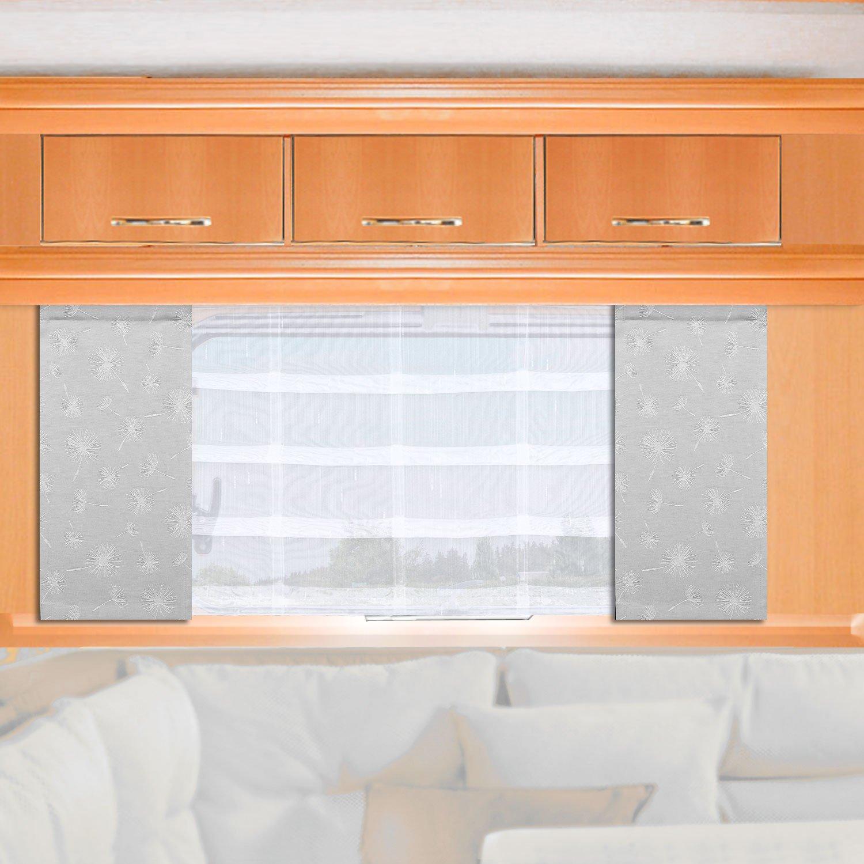 lichtgrau Fl/ächengardine f/ür Caravan Wohnwagen Wohnmobil H/öhe 80 120cm nach Ma/ß SeGaTeX home fashion Caravan-Fl/ächenvorhang Fresh 30cm breit
