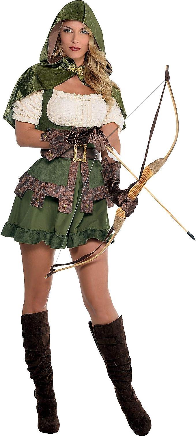 amscan Disfraz de Robin con Capucha para Mujer, Multicolor, Small ...