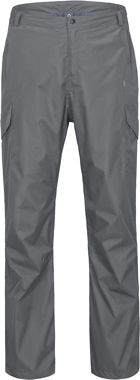 Little Donkey Andy Men's Waterproof Rain Pants Breathable Golf Hiking Rainwear Gray Size L