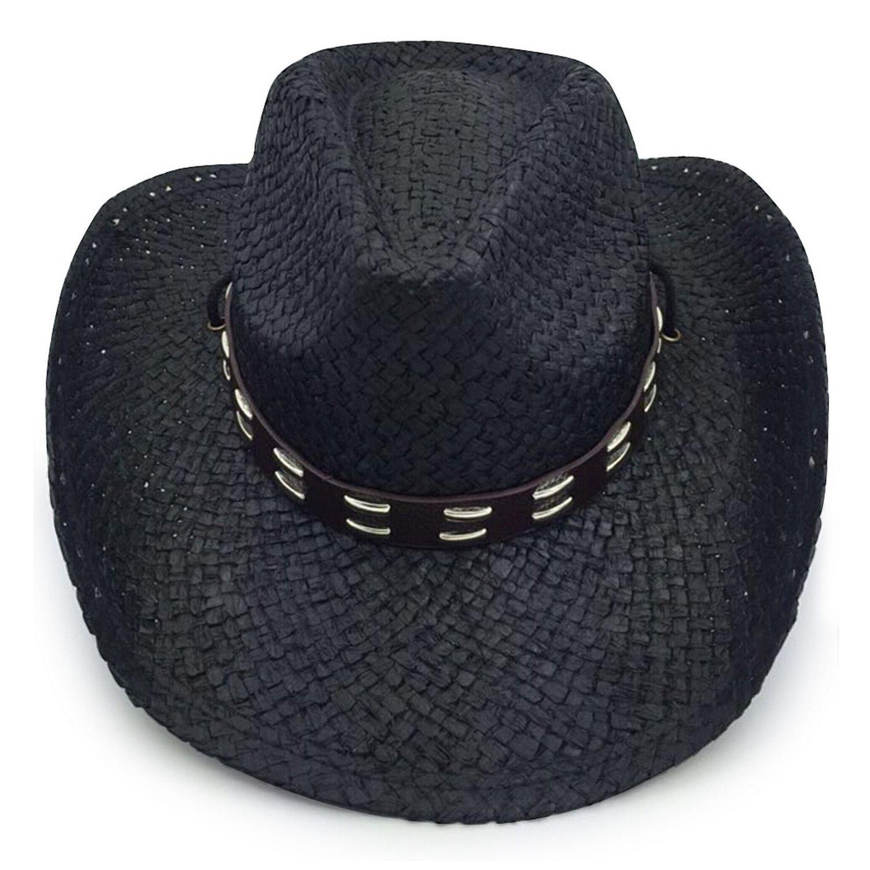AccessHeadwear Old Stone Urban Unisex Cowboy Drifter Style Hat, Black 2402801