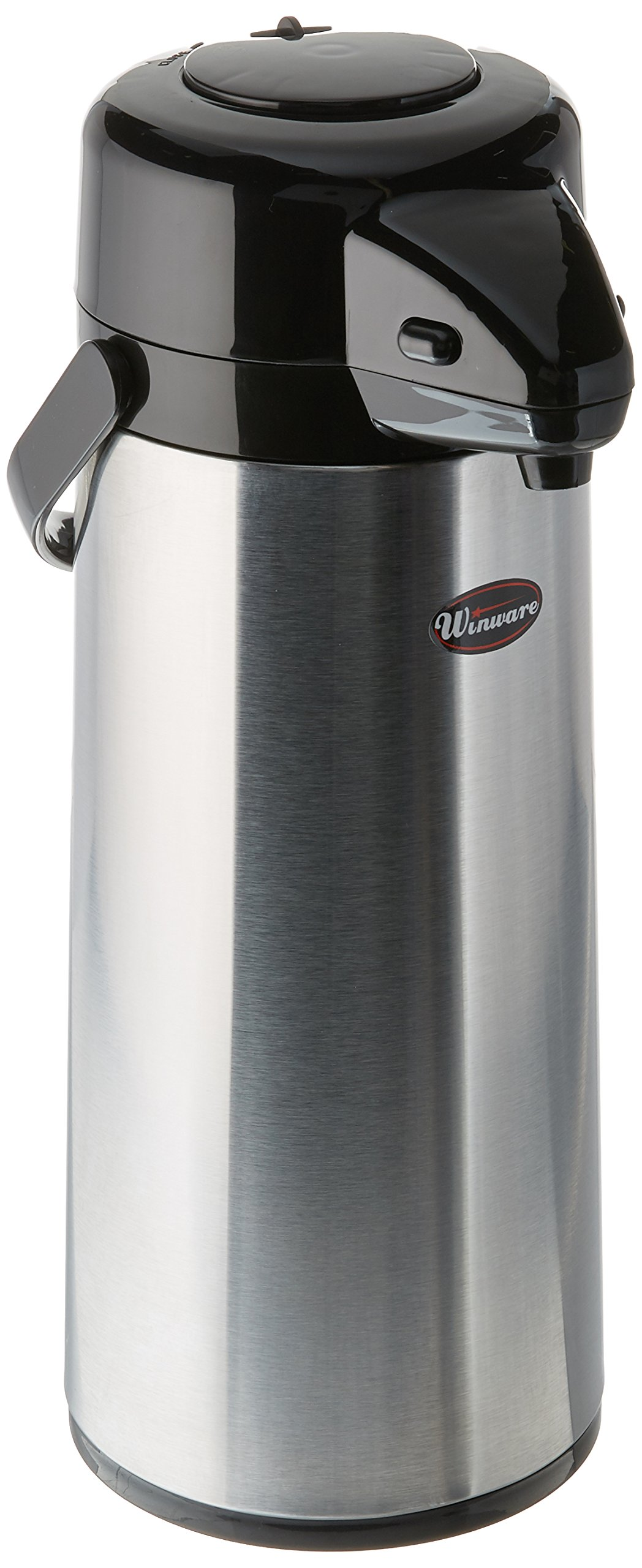 Winco 2.5 Liter Glass Lined Airpot, Push Button by Winco (Image #1)