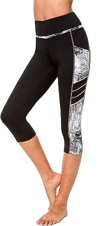 Munvot Women's Yoga Capri Leggings Exercise Workout Pants Gym Tights