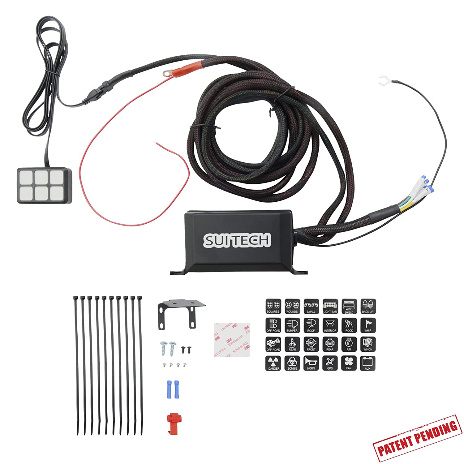 Jeep Wrangler Wiring Sleeve Library Light Bar Jk Amazoncom Control Box Electronic 6 Relay System Module