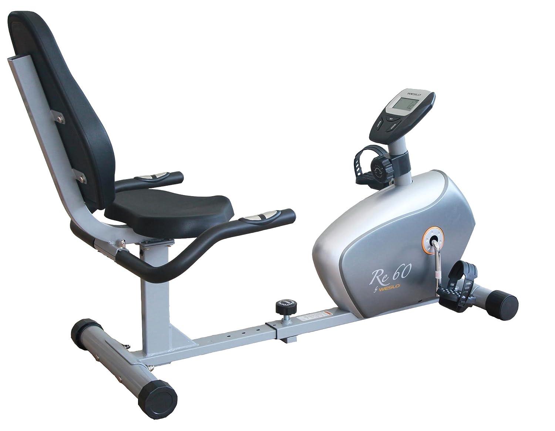 Weslo Re 60 Bicicleta estática Semi-allongé Unisex, Gris: Amazon.es: Deportes y aire libre